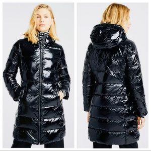 Micheal Kors Womens M Down Coat Hooded Puffer NWT